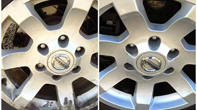 Cleaning car rims