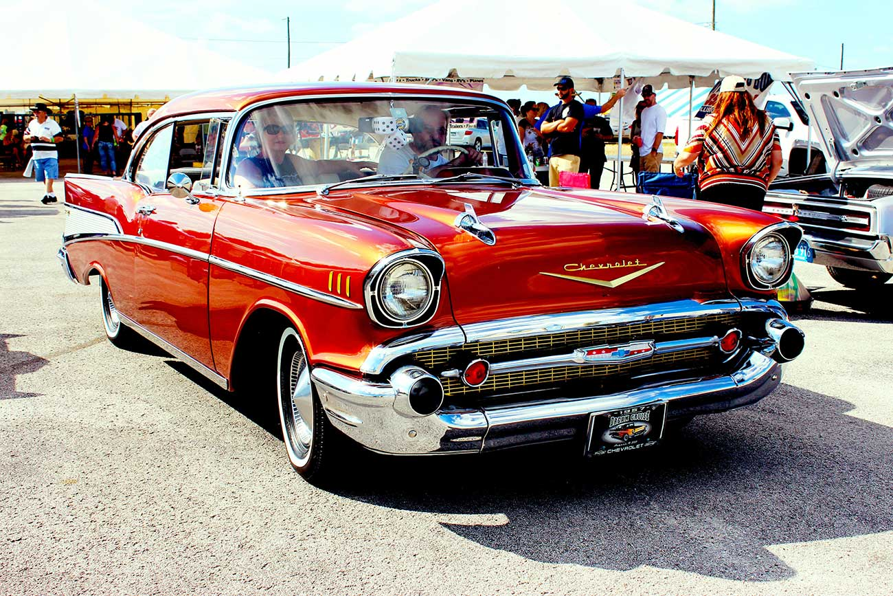 Red Classic American Car something you can have on our multi-vehicle insurance policy
